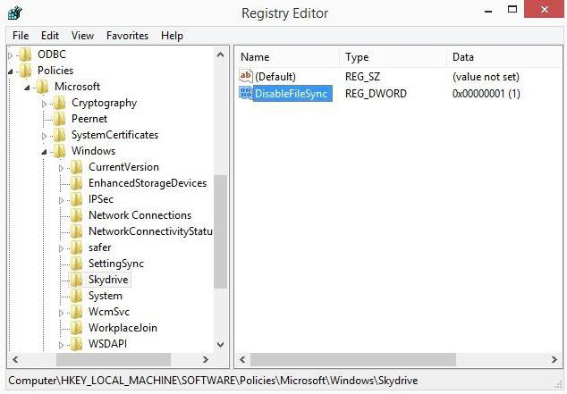 Disable synchronization in windows 10