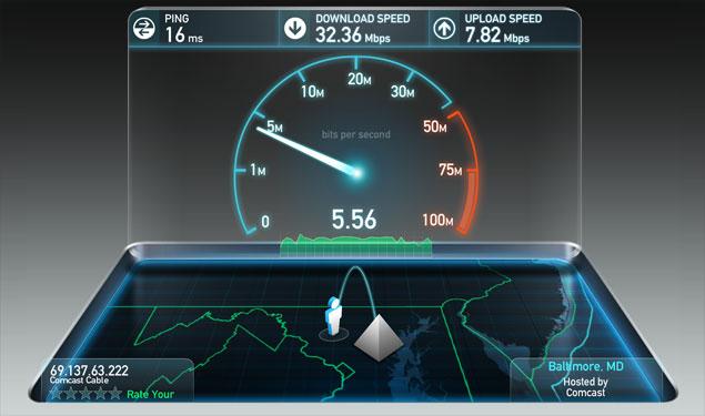 onafhankelijke speedtest internet